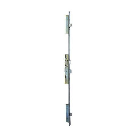 Serrure 3 points 92MTX METALUX pêne basculant 1/2 tour U7/45 mm - Sans gâche - F1U7450200