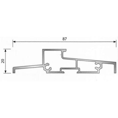 Seuil pour porte PVC OLT-L2 BILCOCQ - PVC blanc - 6.03 m - OLT-L2