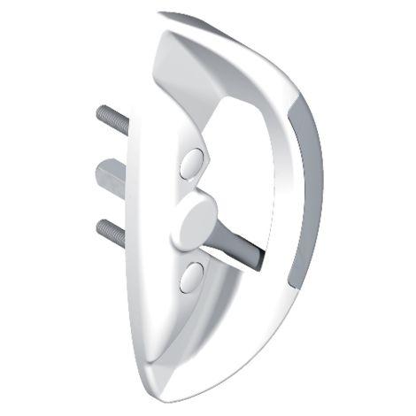 Poignée butée fut centre 5564 LA CROISEE DS profil 32 à 42 mm - Blanc - 5564-36