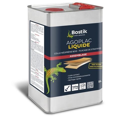 Colle néoprène Agoplac Liquide BOSTIK - tenue thermique 80° - fût 5L - 30604660