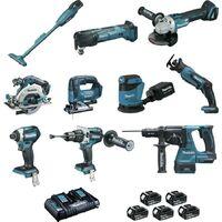 Ensemble de 10 machines BL1850 (DCL180 + DHP481 + DTD154 + DGA506 + DHS680 + DHR243 + DTM51 + DJR18 MAKITA - DLX1011PTJ