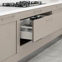 Jeu de tringles Concept EMUCA pour tiroir profondeur 300 mm finition blanc - 3110112