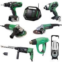 Lot Perceuse + 7 outils -2 batteries 18V 3Ah Hitachi/Hikoki