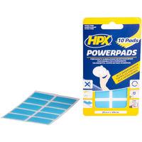 Pads adhésifs double face HPX - 20mm x 40mm - 10 pièces - PA2040