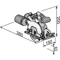 Scie circulaire sur batterie 18,0 V CS 18.0-EC FLEX - accessoires + L-Boxx - sans batterie ni chargeur - 417939