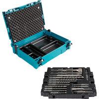 Coffret Makpac 17 pièces SDS-Plus forets, pics, burins MAKITA - B-52059