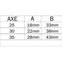 Serrure 3 points à larder ISEO Electa Inox à pêne réversible - Têtiere U - 1860x24x6 - Axe 35 - 785101352