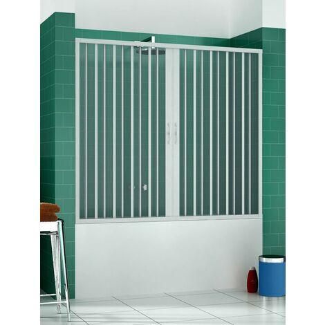 Pare-baignoire mural Astra 170 cm ouverture centrale avec soufflet PVC