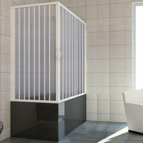 Pare-baignoire 2 cote's mod. Nadia 70x140 cm et ouverture d'angle a' soufflet en PVC