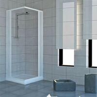 Cabine de douche Acquario 80x100 cm en PVC avec ouverture d'angle a' soufflet