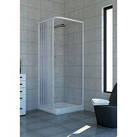 Cabine de douche Acquario 80x100 cm en PVC avec ouverture late'rale a' soufflet