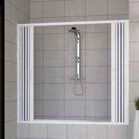 Pare-baignoire mural Nina 160 cm ouverture late'rale a' soufflet en PVC