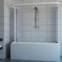 Pare-baignoire 3 cote's mod. Nicla 70x150x70 avec ouverture centrale a' soufflet en PVC