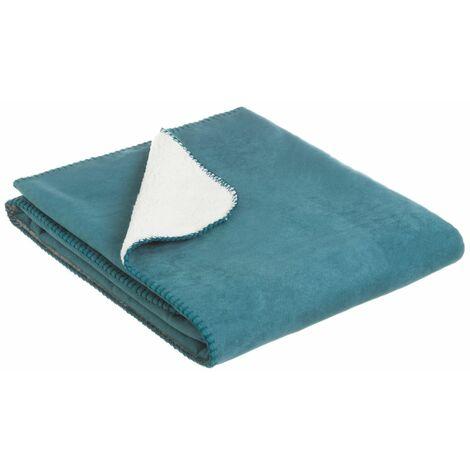 Manta azul de sofá de microfibra de 125x150 cm