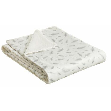 Manta plateada de sofá de microfibra de 150x125 cm