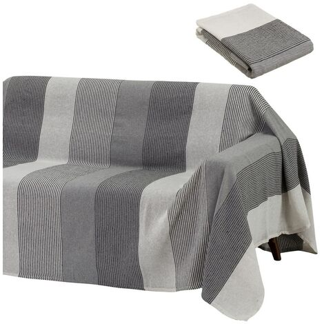 Cubre sofá protector gris clásico de algodón de 220x160 cm