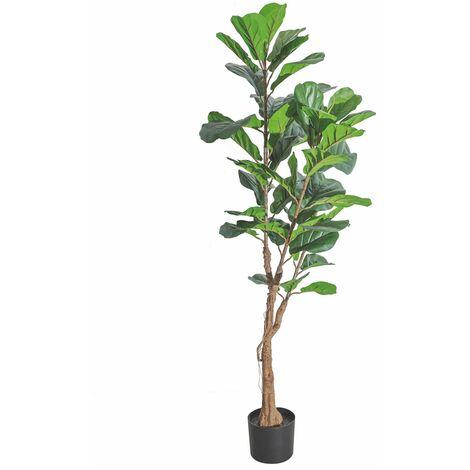 Planta artificial ficus verde PVC para exterior de 185 cm