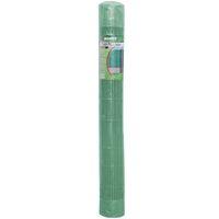 Cañizo artificial de PVC verde de media caña para ocultación de 3x1 metros