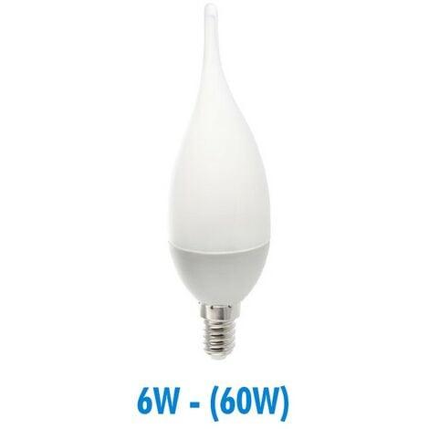 Bombilla LED 6W (60W) E14 Llama opaca | Temperatura de color: Blanco frio 6000K