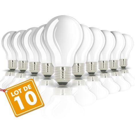 Lote de 10 bombillas LED E27 8W eq 60W 806m CRISTAL sin radiador | Temperatura de color: Blanco cálido 2700K