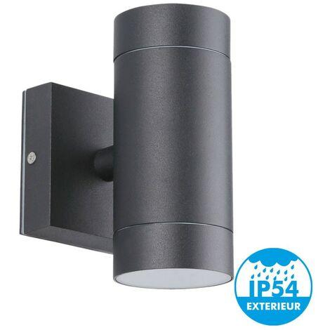 Aplique de exterior de doble haz negro GU10 IP54