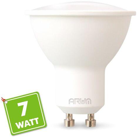 Proyector LED GU10 7W eq 60W 120 ° | Temperatura de color: Blanco cálido 2700K