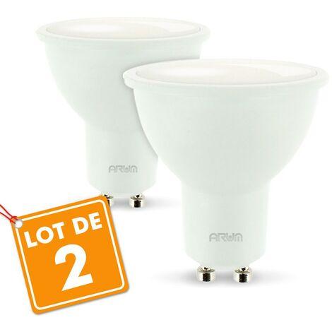 Conjunto de 2 focos LED GU10 5W Eq 40W | Temperatura de color: 4000K blanco neutro