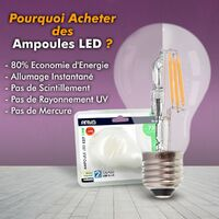 Lote de 10 bombillas LED GU10 5W eq 40W | Temperatura de color: Blanco cálido 2700K
