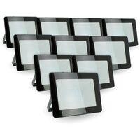 Lote de 10 reflectores LED 30W IP65 al aire libre | Temperatura de color: Blanco cálido 3000K
