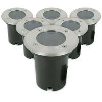 Conjunto de 6 Downlights INOX 304 GU10 IP67