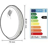 Ojo de buey o techo LED Perry Outdoor IP65 Round 20W Eq 120Watts Sensor   Temperatura de color: 4000K blanco neutro