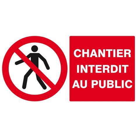 Chantier interdit au Public 330x200mm - Taliaplast - 621209