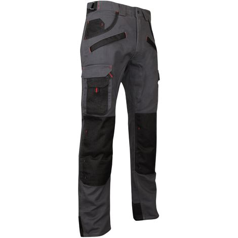 Pantalon bicolore avec poches genouillères - LMA - ARGILE | 54