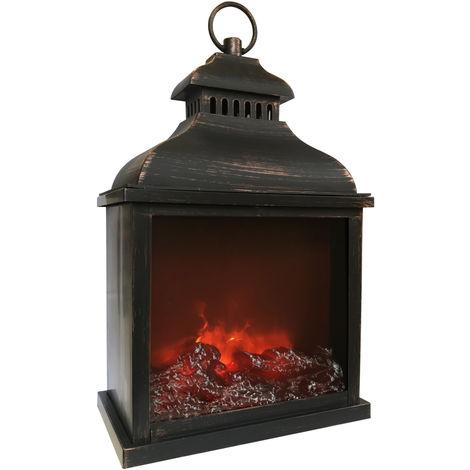 Farol decorativo grande efecto fuego (F-Bright 2425002)