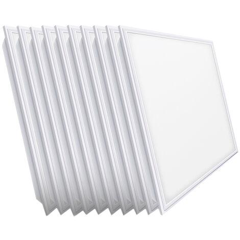 10 paneles Led empotrables retroiluminados 48W 6000°K 5760Lm 59x59cm. (Led Hispania  PTLHW48C)