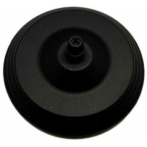 Florón metálico decorativo negro ø12cm.(F-Bright 1301024)