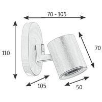 Regleta de aluminio 3 focos serie Tonik negra GU10 (Jueric 10298)