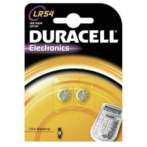 Pack de 2 piles bouton Duracell LR54 (AG10)