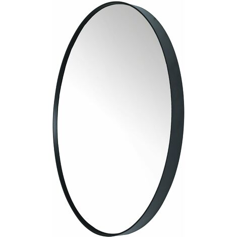 Donna Miroir ovale 60x80 Noir