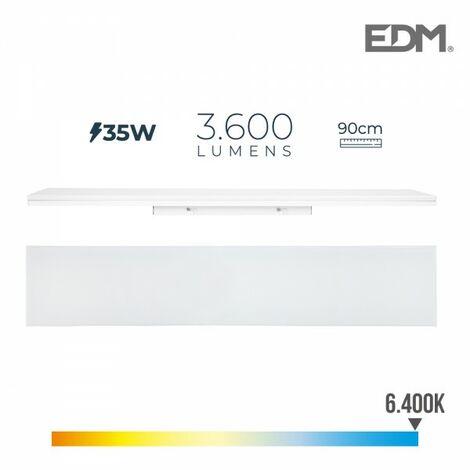 Reglette led 35w 90cm 6400k lumiere froide 3600 lm edm
