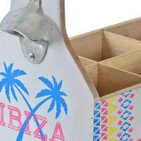 Range Bouteilles DKD Home Decor Ibiza Bois (32 x 17 x 28 cm)