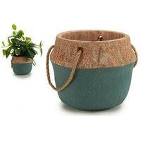 Pot Grand Vert Ciment (20,5 x 17,5 x 20,5 cm)