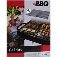 plaques grill barbecue en acier inoxydable - 2 pièces