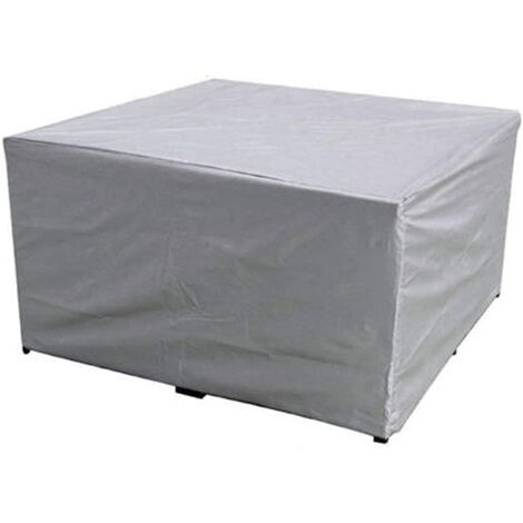 Garden Furniture Cover, Rectangular/Square Polyester Waterproof Dustproof Anti-UV Heavy Duty Chair Table Cover for Outdoor Patio Sofa Protective(size:115 X 115 X 70cm)