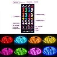 RGB LED light strip, 10M LED strip with 300 LED light, IP65 Waterproof Remote Control Self-adhesive Strip for Party Back Wall