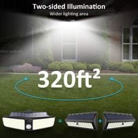Solar Lights Outdoor, 80 LEDs Motion Sensor Light with 180° Wide Angle Illumination, IP65 Waterproof Wireless Wall Light, Easy-to-Install Security Night Light for Garage, Yard, Fence, Deck