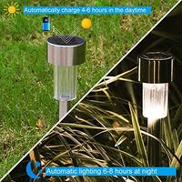 Solar Garden Lights Outdoor, Solar Lights Outside Solar Powered Garden Lights for Driveway, Path, Pond 10 Pack