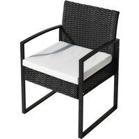 Rattan Garden Furniture Set 3 piece Patio Rattan furniture sofa set with 2 Armchairs and 1 table Outdoor Conservatory Indoor #2