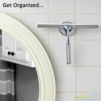 Bathroom Shower Squeegee with Suction Cup Hook for Glass, Mirror, Rustproof Stainless Steel Door Cleaner