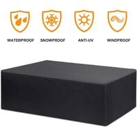 Outdoor Furniture Cover Waterproof Garden Table Outdoor Furniture Seating Area Protective Cover Breathable Hood Outdoor Seating Furniture Garden Tables and Furniture Sets - 270 * 180 * 89CM
